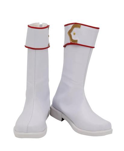 CCS Card Captor Sakura Shaoran Li Stiefel Cosplay Schuhe Weiß