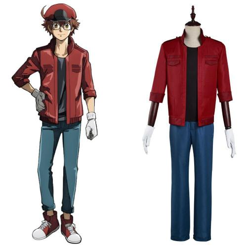 Cells at Work! Code Black Sekkekkyuu Red Blood Cell Cosplay Kostüm Set