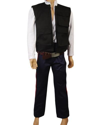 Star Wars ANH A New Hope Han Solo Cosplay Kostüm Weste Hemd Hose