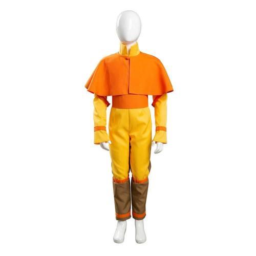 Avatar – Der Herr der Elemente Aang Cosplay Kostüm Kinder Jumpsuit Jungen Halloween Karneval Kostüm