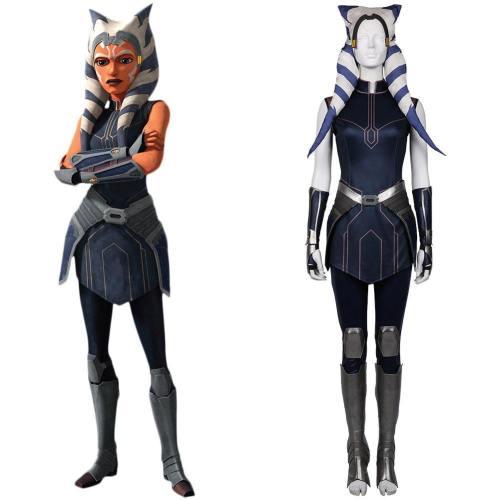 Star Wars: The Clone Wars Staffel 7-Ahsoka Tano Cosplay Kostüm Outfits Halloween Karnval Kostüm Version C