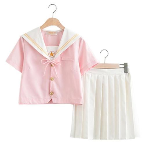 Card Captor Sakura Uniform JK-Uniform Cosplay Kostüm Top Rock Oberteil