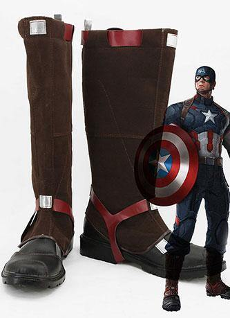 Avengers: Age of Ultron Captain America Steve Rogers Cosplay Schuhe