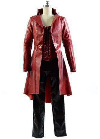 Captain America Civil War Avengers Scarlet Witch Wanda Outfit Cosplay Kostüm