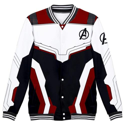 Avengers: Endgame Technical Specifications Baseball Jacke Quantenreich Suit Quantum Realm Suit Jacke Sweatshirt Pullover