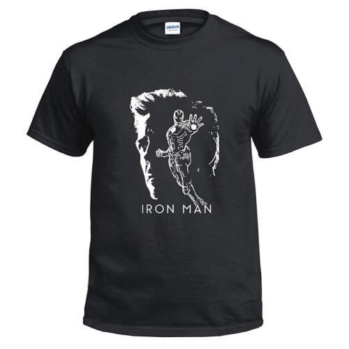 Avengers 4 Endgame Avengers Tony Stark Iron Man Top Tee T-Shirt Kurzarm Rundhals Unisex Sommer