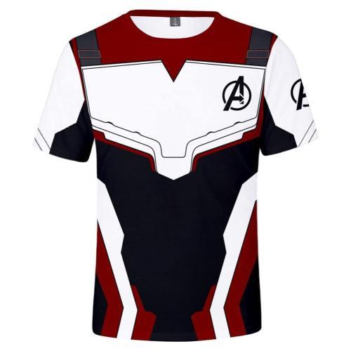 Avengers: Endgame Technical Specifications T-Shirts Hemd Kurzarm Rundhals Herren Männer für Erwachsene Quantenreich Suit Quantum Realm Suit A
