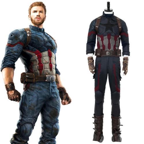 Avengers: Infinity War 2018 Captain America Steve Rogers Cosplay Kostüm Version B