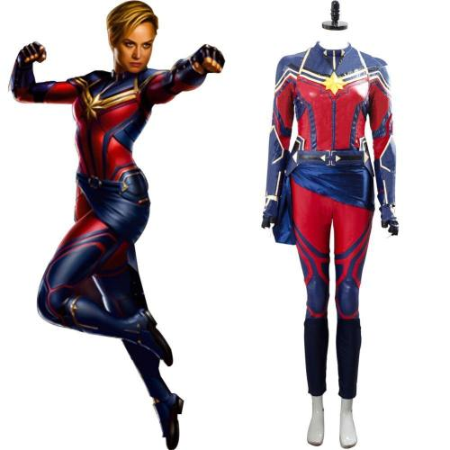 Avengers 4 Endgame Captain Marvel Soldatin Carol Danvers Cosplay Kostüm Jumpsuit