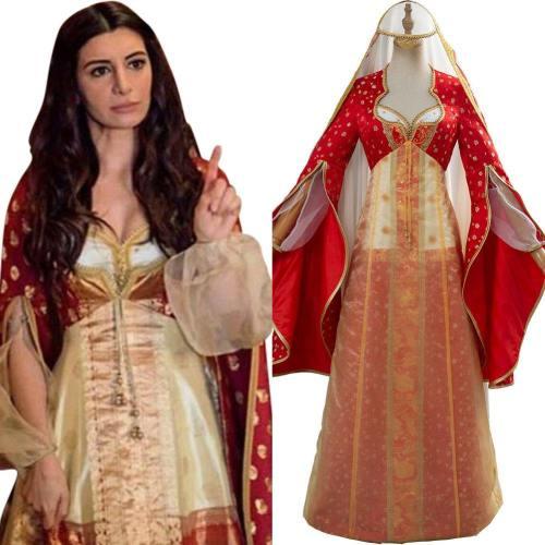 2019 Film Aladdin Nasim Pedrad Dalia Kleid Cosplay Kostüm