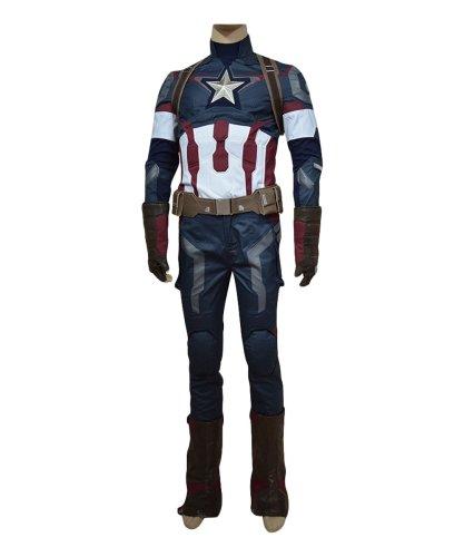 Avengers: Age of Ultron Captain America Steve Rogers Uniform Cosplay Kostüm