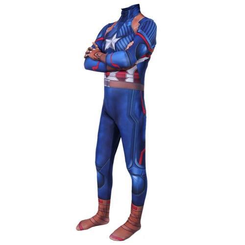 Avengers 4 Avengers: Endgame Captain America Jumpsuit Cosplay Kostüm Erwachsene