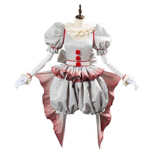 IT Pennywise The Clown Cosplay Kostüm Halloween Karneval weiblich Kostüm