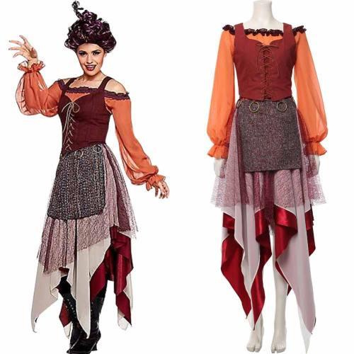 Hocus Pocus Mary Sanderson Horror Film Cosplay Kostüm Mittelalter Kostüm
