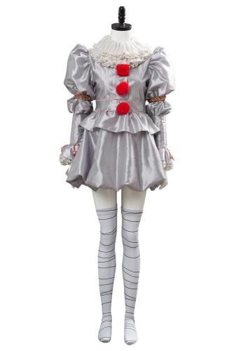 Es: Kapitel 2 IT Pennywise the Clown Cosplay Kostüm Weblich