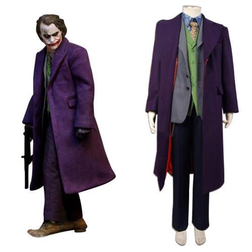 Batman Dark Knight Joker 6 pcs Set * Wolle Mantel Cosplay Kostüm