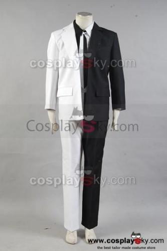 Batman Harvey Dent aka Anzug Schwarz und Weiß Cosplay Kostüm