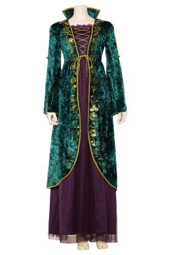 Hocus Pocus Winifred Sanderson Horror Film Cosplay Kostüm Mittelalter Kostüm
