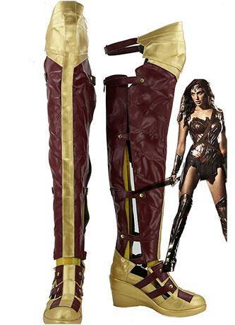 Batman v Superman:Dawn of Justice Wonder Woman Cosplay Schuhe