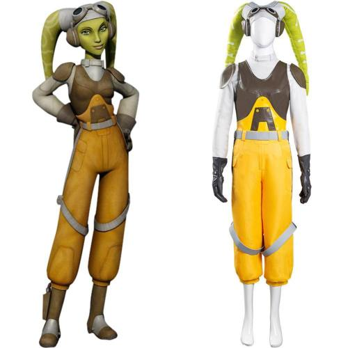 Star Wars Rebels Hera Syndulla Cosplay Kostüm Galaxis Imperium Halloween Karneval Kostüm