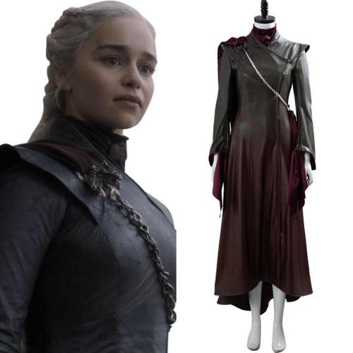 GoT 8 Game of Thrones Daenerys Targaryen Cosplay Kostüm Braun Version