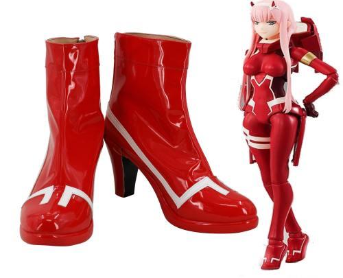 DARLING in the FRANXX DFXX 002 Zero Two Rot Schuhe Cosplay Schuhe Stiefel für Kämpfanzug
