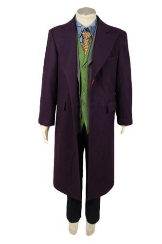 Dark Knight Joker Purple Wolle Trench Mantel Kostüm