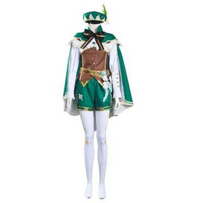 Genshin Impact Venti Cosplay Kostüm Set Halloween Karneval Kostüm