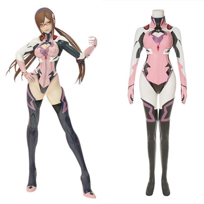 Evangelion 4.0 Final Pilotin Mari Makinami Illustrious Cosplay Kostüm Kampfanzug Halloween Karneval Outfits
