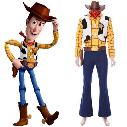 Disney Toy Story Cowboy-Sheriff Woody Outfit Cosplay Kostüm NEU