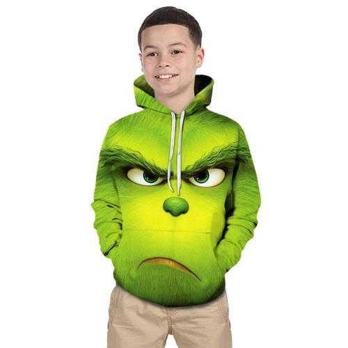 The Grinch Der Grinch Hoodie Sweatshirt Pullover mit Kaputze für Kinder