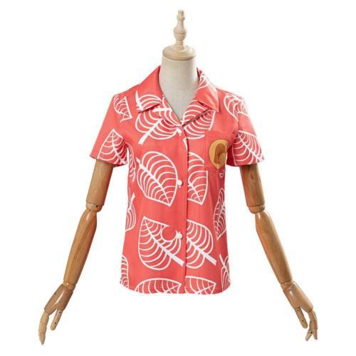 Animal Crossing Isabelle T-Shirt Oberteil Hemd Sommer T-Shirt Cosplay Kostüm
