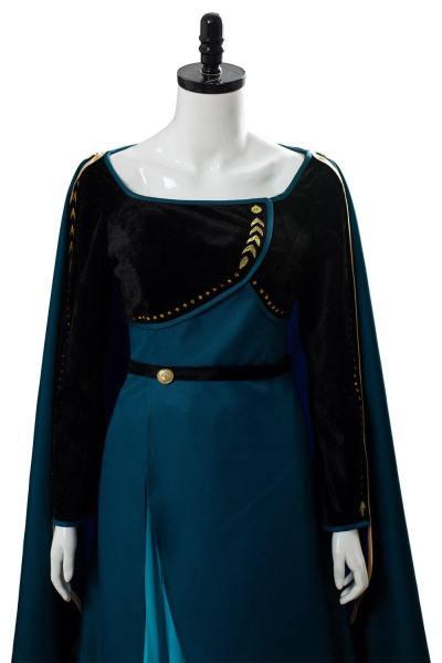 Königin Anna Frozen 2 Die Einkönigin Anna Kleid Cosplay Kostüm