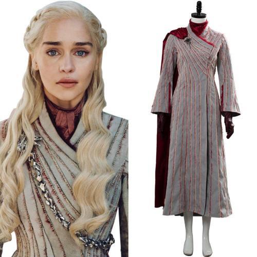 Game of Thrones 8 S8 Daenerys Targaryen Schnee Kleid Drachenstein Cosplay Kostüm