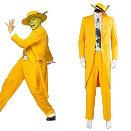 Jim Carrey Gelb Anzug Cosplay Kostüm Uniform Halloween Karneval Kostüm