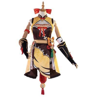 Genshin Impact Xiangling Cosplay Outfits Halloween Karneval Kostüm