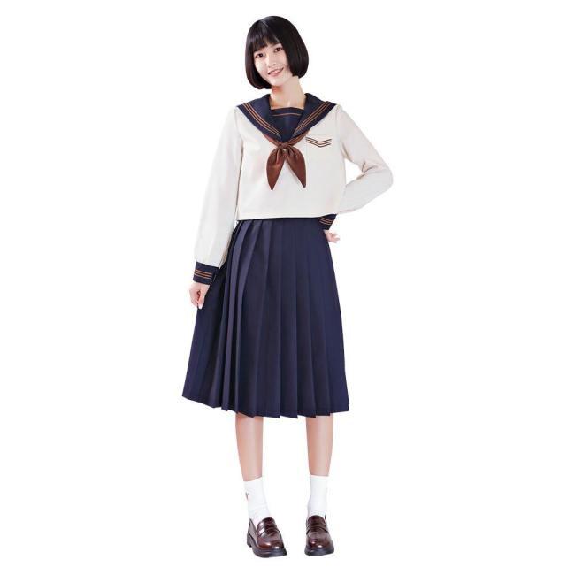 Japanische Matrosenanzug Cosplay langarm JK Uniform Kostüm für Mädchen Studentin