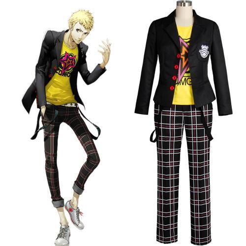 Persona 5 Sakamoto Ryoji Outfit Cosplay Kostüm Uniform