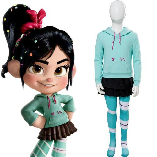 Ralph Breaks the Internet: Wreck-It Ralph 2 Vanellope von Schweetz Cosplay Kostüm für Kinder