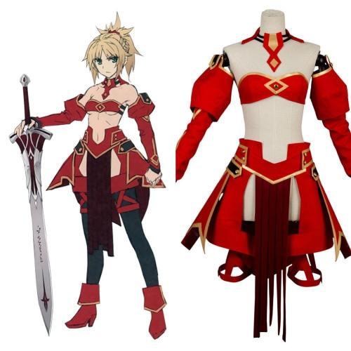 Fate/Apocrypha FA Saber of Red Mordred Kleid Cosplay Kostüm