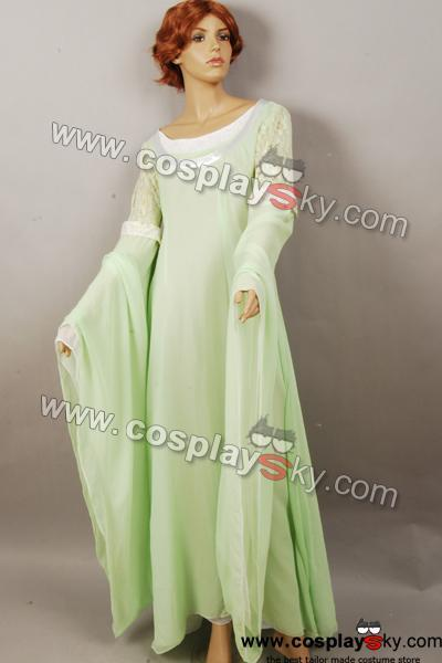 The Lord of the Rings Arwen grün Kleid Abendkleid Cosplay