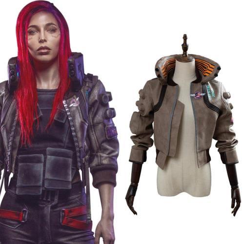 Cyberpunk 2077- V Video Spiel Top Jacke Weblich Cosplay Kostüm