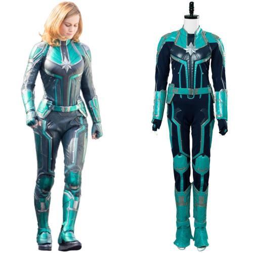 Captain Marvel Carol Danvers Superhero Cosplay Kostüm Jumpsuit