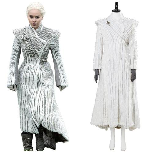 Game of Thrones Staffel 8 Daenerys Targaryen Dany Winter Outfit Drachenstein Cosplay Kostüm