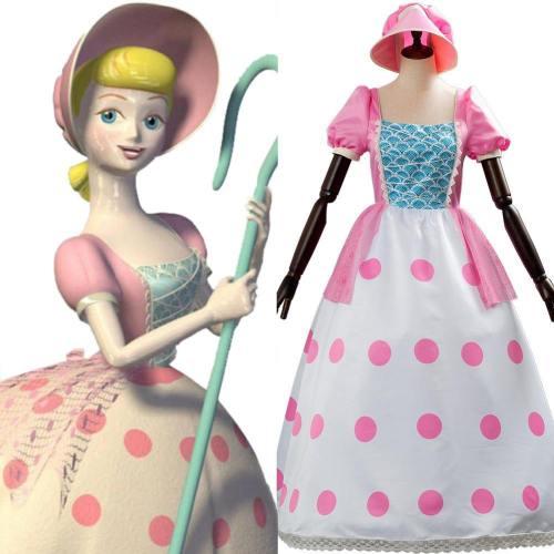 Toy Story 4 Bo Peep Porzellinchen Rosa Kleid Cosplay Kostüm