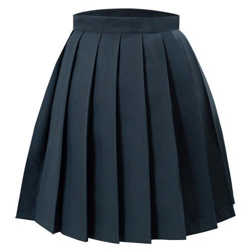 Japanische Schuluniform Faltenrock Jk Uniform Mini Röcke für Mädchen dunkelgrau