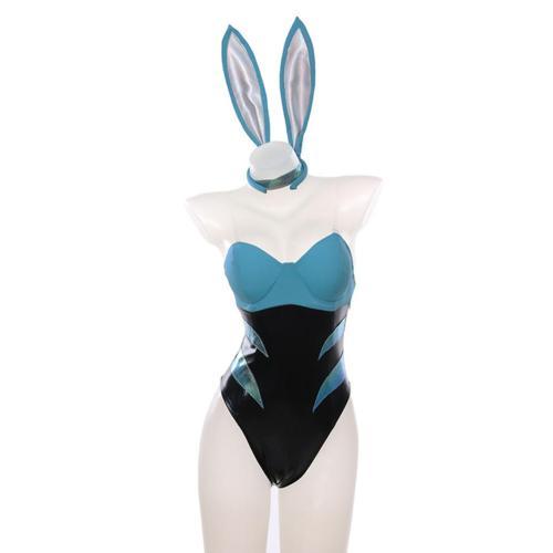 League of Legends LOL KDA Leam Akali The Rogue Assassin Cosplay Kostüm Bunny Girl Jumpsuit