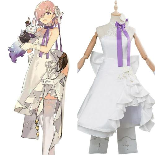 FGO Fate/Grand Order Servant Master Mashu Kyrielight Kleid Cosplay Kostüm