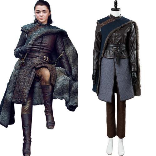 Game of Thrones S8 Staffel 8 Arya Stark Cosplay Kostüm