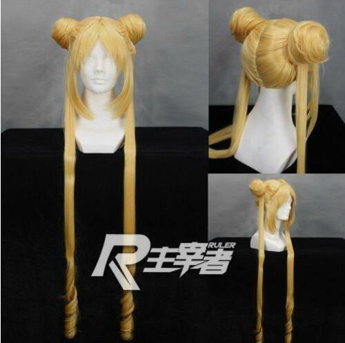 Sailor Moon Usagi Tsukino Perücke Cosplay Perücke Gold